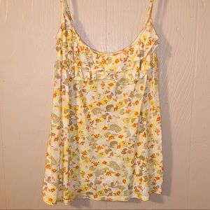 Floral tank top, super cute, perfect condition